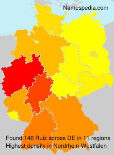 Surname Ruiz in Germany