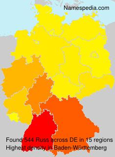 Familiennamen Russ - Germany