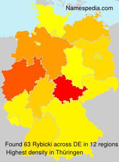 Surname Rybicki in Germany