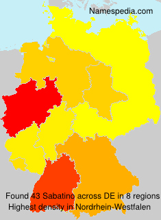 Familiennamen Sabatino - Germany