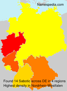 Familiennamen Sabotic - Germany