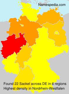 Surname Sackel in Germany