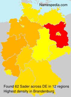 Familiennamen Sader - Germany