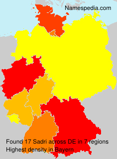 Surname Sadri in Germany