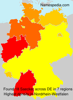 Surname Saecker in Germany