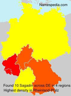 Familiennamen Sagadin - Germany
