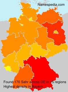 Surname Sahr in Germany