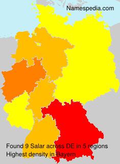 Surname Salar in Germany