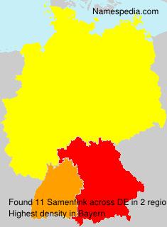 Surname Samenfink in Germany