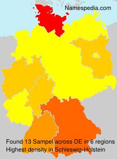 Surname Sampel in Germany