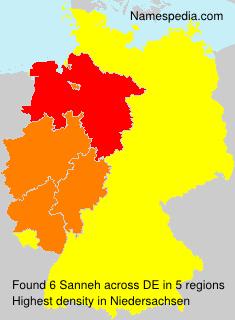 Familiennamen Sanneh - Germany