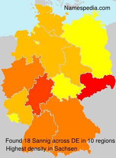 Surname Sannig in Germany