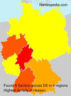 Familiennamen Santino - Germany
