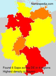 Familiennamen Sapa - Germany