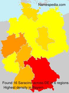 Familiennamen Saracino - Germany