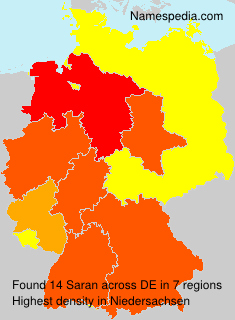 Surname Saran in Germany