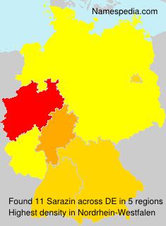Surname Sarazin in Germany