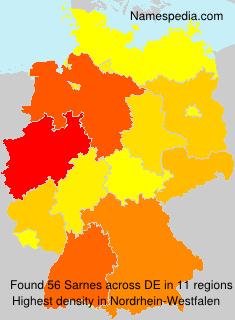 Surname Sarnes in Germany