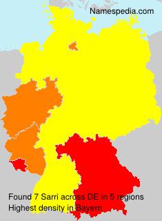 Surname Sarri in Germany
