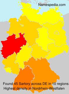 Familiennamen Sartory - Germany