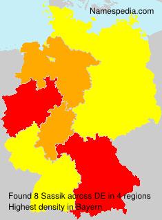 Surname Sassik in Germany