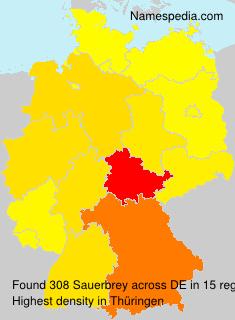 Surname Sauerbrey in Germany