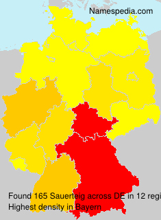 Surname Sauerteig in Germany