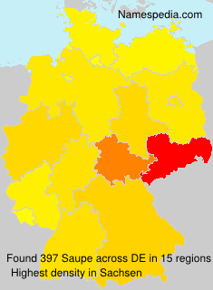 Surname Saupe in Germany