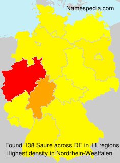 Surname Saure in Germany