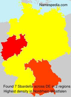 Familiennamen Sbardella - Germany