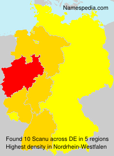 Surname Scanu in Germany