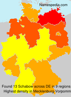 Surname Schabow in Germany