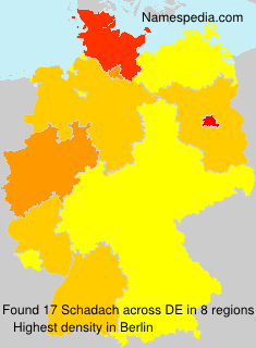 Surname Schadach in Germany