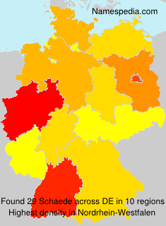 Surname Schaede in Germany