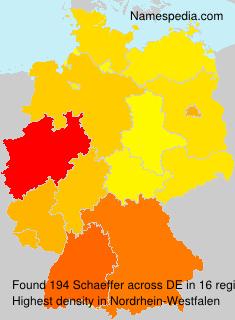 Surname Schaeffer in Germany