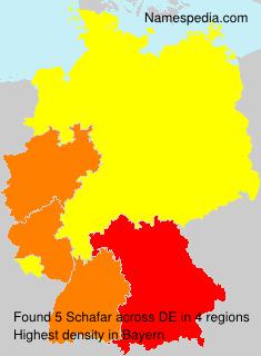 Surname Schafar in Germany