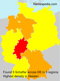 Familiennamen Schaffar - Germany