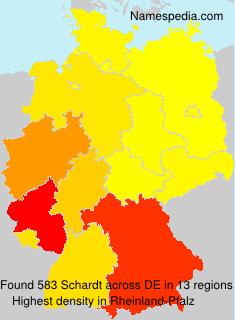 Surname Schardt in Germany