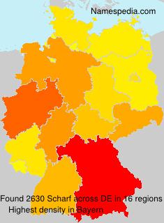 Familiennamen Scharf - Germany