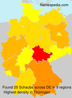 Surname Schaubs in Germany