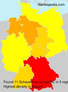 Familiennamen Schauderna - Germany