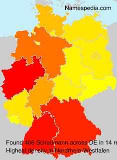Surname Schaumann in Germany