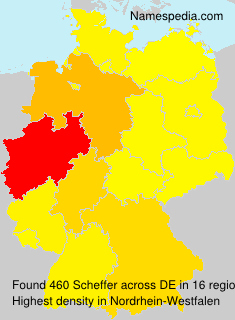 Surname Scheffer in Germany