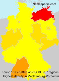 Familiennamen Scheffert - Germany