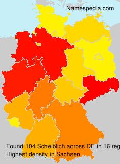 Surname Scheiblich in Germany