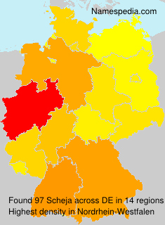 Surname Scheja in Germany
