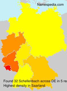 Surname Schellenbach in Germany