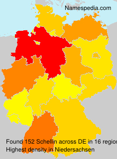 Surname Schellin in Germany