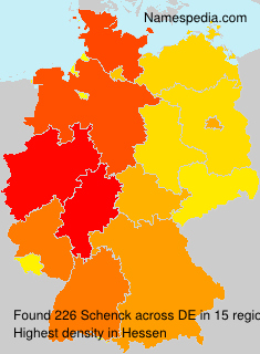 Surname Schenck in Germany