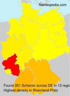 Surname Scherrer in Germany